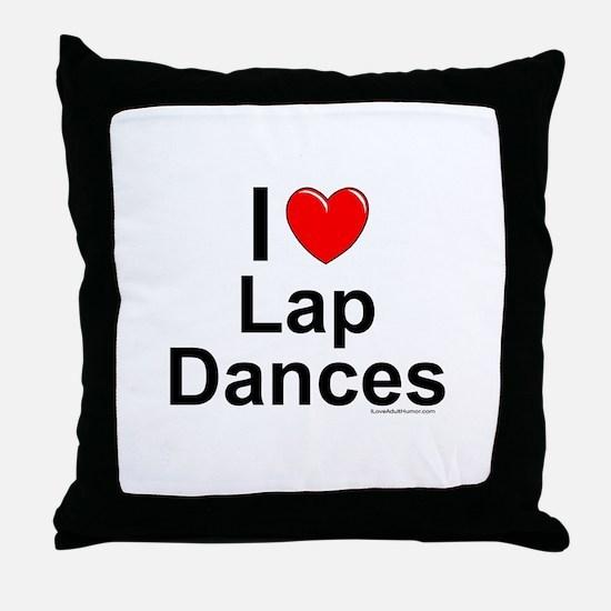 Lap Dances Throw Pillow
