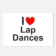 Lap Dances Postcards (Package of 8)