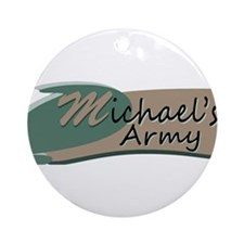 Michaels Army Logo Ornament (Round)