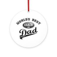 Best Coach/Dad Ornament (Round)