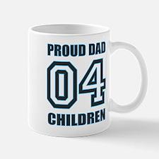 Proud Dad 4 Kids Mug