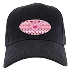 Fun Hearts and Polka Dots Baseball Hat
