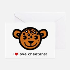 I Love Cheetahs Greeting Cards (Pk of 20)