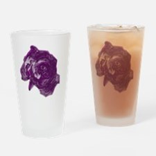 purple roses Drinking Glass
