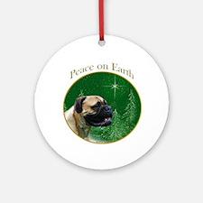 Bullmastiff Peace Ornament (Round)