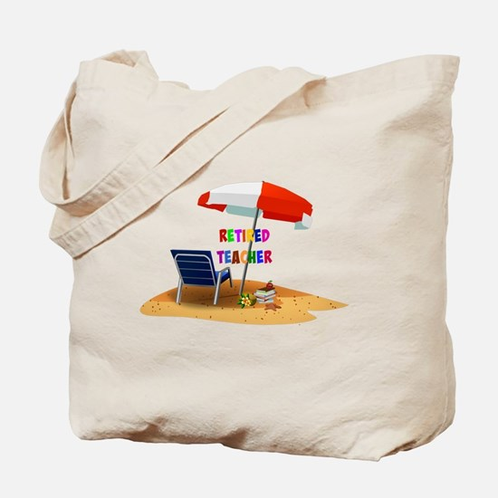 Retired Teacher, Beach Scene Revised Tote Bag