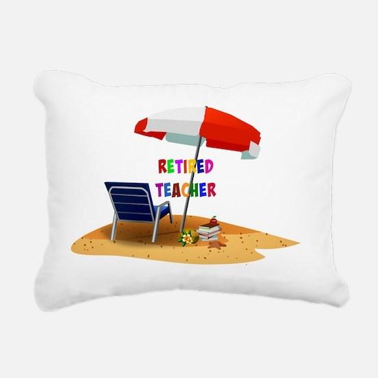 Retired Teacher, Beach S Rectangular Canvas Pillow