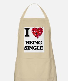 I Love Being Single Apron