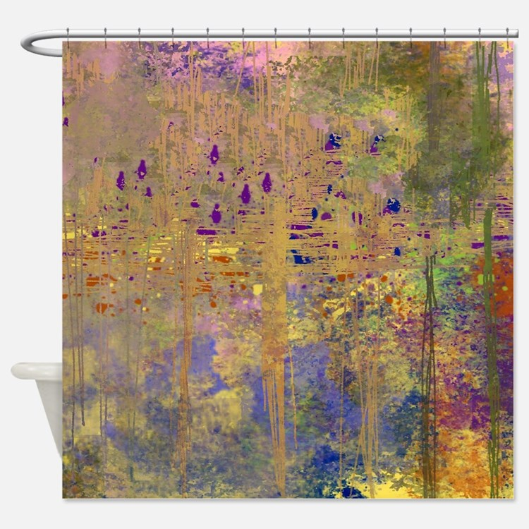 Reflections in the Water Shower Curtain