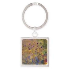 Reflections in the Water Square Keychain