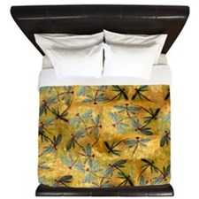 Dragonfly Haze Cloud King Duvet