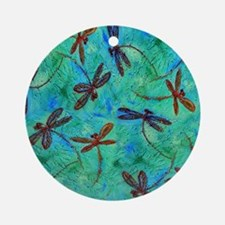 Dragonfly Dance Ornament (Round)