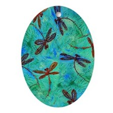 Dragonfly Dance Ornament (Oval)
