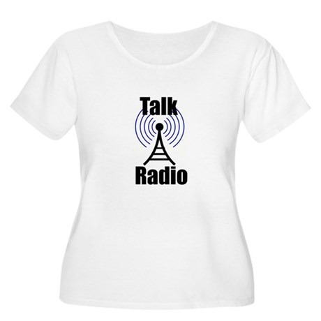 Talk Radio Women's Plus Size Scoop Neck T-Shirt
