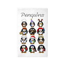 Penguins Area Rug