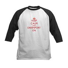 Keep Calm and Davenport ON Baseball Jersey