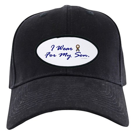 For My Son (Puzzle Ribbon) Black Cap