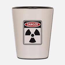 Danger Radiation Shot Glass