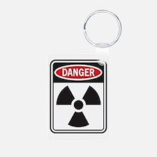 Danger Radiation Aluminum Photo Keychain