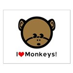 I Love Monkeys Small Poster