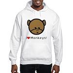 I Love Monkeys Hooded Sweatshirt