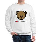 I Love Monkeys Sweatshirt