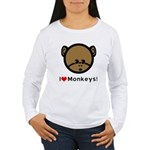 I Love Monkeys Women's Long Sleeve T-Shirt