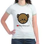 I Love Monkeys Jr. Ringer T-Shirt