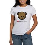 I Love Monkeys Women's T-Shirt