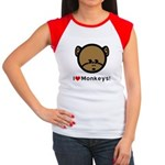 I Love Monkeys Women's Cap Sleeve T-Shirt