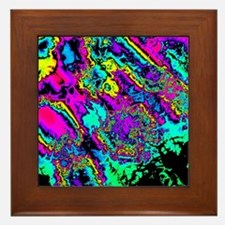 Unique Fractals Framed Tile