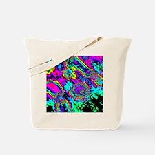 Unique Neon fractal Tote Bag