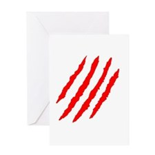 Claw Marks Greeting Cards