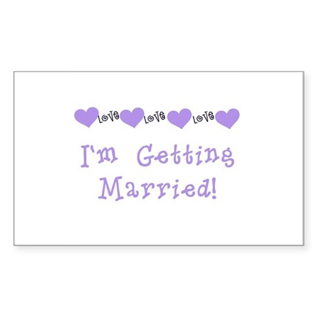 I'm Getting Married (purple) Rectangle Sticker