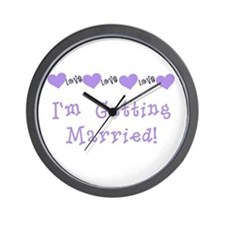 I'm Getting Married (purple) Wall Clock