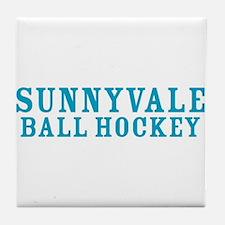 Cute Sunnyvale trailer park Tile Coaster