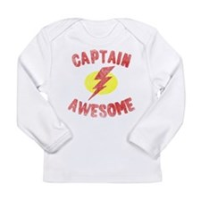 Funny Captain awesome Long Sleeve Infant T-Shirt