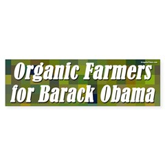 Organic Farmers for Barack Obama sticker