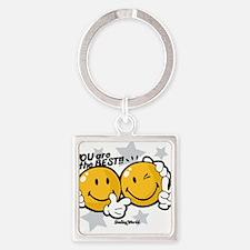 Cute Smileyworld Square Keychain