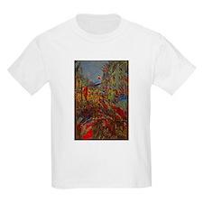 Claude Monet, Rue Montorgueil Flags T-Shirt