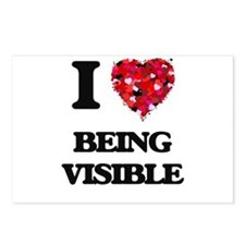 I love Being Visible Postcards (Package of 8)