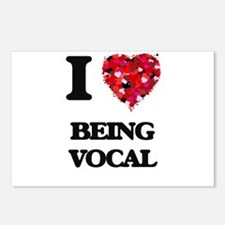 I love Being Vocal Postcards (Package of 8)
