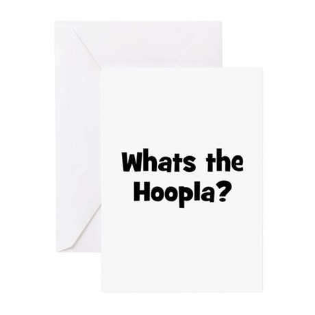 Whats the Hoopla? Greeting Cards (Pk of 10)