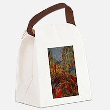 Claude Monet, Rue Montorgueil Fla Canvas Lunch Bag