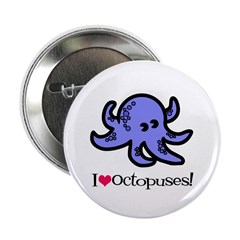 I Love Octopuses Button