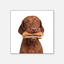 """Cute Hot dog Square Sticker 3"""" x 3"""""""