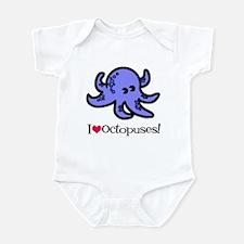 I Love Octopuses Infant Bodysuit