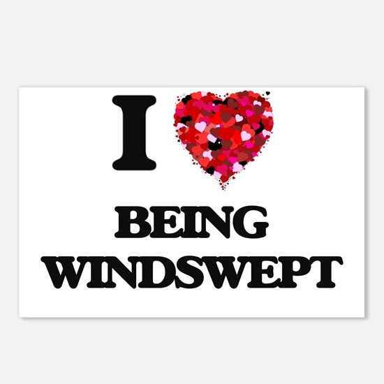 I love Being Windswept Postcards (Package of 8)