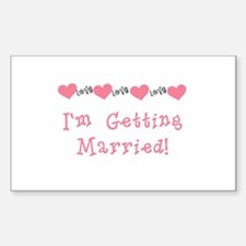 I'm Getting Married (coral) Rectangle Decal