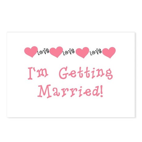 I'm Getting Married (coral) Postcards (Package of